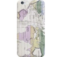 Vintage World Climate Map (1823) iPhone Case/Skin