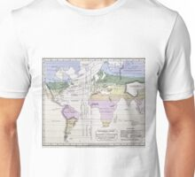 Vintage World Climate Map (1823) Unisex T-Shirt