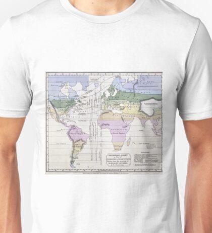 Vintage World Climate Map (1823) Unisex T-Shirt