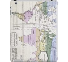 Vintage World Climate Map (1823) iPad Case/Skin