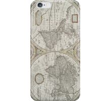 Vintage Map of The World (1651) iPhone Case/Skin