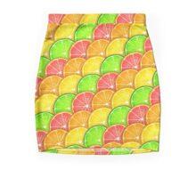 Tangy Citrus Fruit Scales Mini Skirt