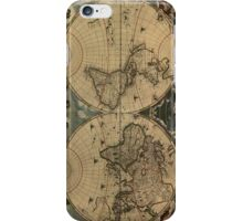 Vintage Map of The World (1664) iPhone Case/Skin