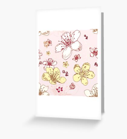 Soft Floral Blossoms Greeting Card