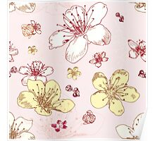 Soft Floral Blossoms Poster