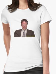 """""""Do I Care That Michael Didn't Invite Me to His Dinner Party?"""" Womens Fitted T-Shirt"""