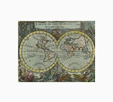Vintage Map of The World (1682) Unisex T-Shirt