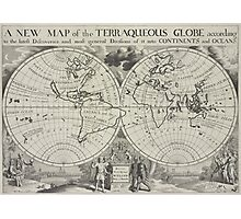Vintage Map of The World (1700) 2 Photographic Print