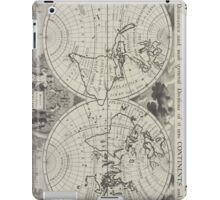 Vintage Map of The World (1700) 2 iPad Case/Skin