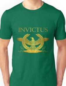 Roman Invictus Eagle, Golden on Black Unisex T-Shirt