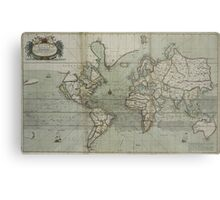 Vintage Map of The World (1702) 2 Metal Print