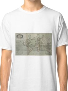 Vintage Map of The World (1702) 2 Classic T-Shirt