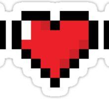8Bit Heart - Legend of Zelda Sticker