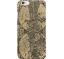Vintage Map of The World (1702) 3 iPhone Case/Skin