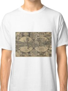 Vintage Map of The World (1702) 3 Classic T-Shirt