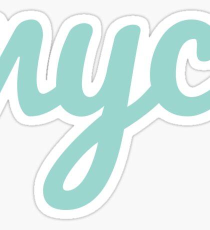 NYC - LIGHT GREEN   Sticker