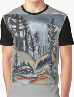 North Woods Mood(Based on a Watercolor by Charles E. Burchfield Graphic T-Shirt
