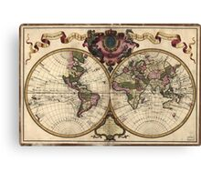Vintage Map of The World (1720) Canvas Print