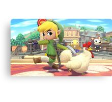 Super Smash Bros. Toon Link and Cucco Metal Print