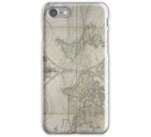 Vintage Map of The World (1736) iPhone Case/Skin