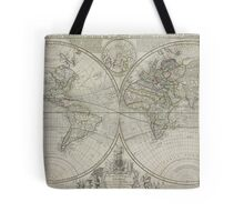 Vintage Map of The World (1736) Tote Bag