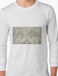 Vintage Map of The World (1736) Long Sleeve T-Shirt