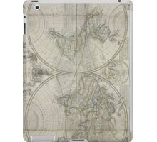 Vintage Map of The World (1736) iPad Case/Skin