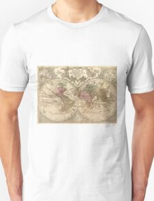 Vintage Map of The World (1775) 3 Unisex T-Shirt