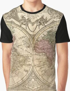 Vintage Map of The World (1775) 3 Graphic T-Shirt