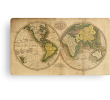Vintage Map of The World (1795) 2 Metal Print