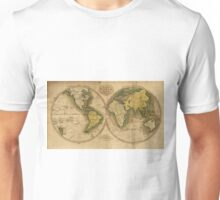 Vintage Map of The World (1795) 2 Unisex T-Shirt