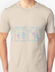 Surfing, problem solved Unisex T-Shirt