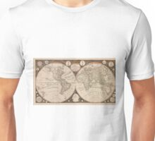 Vintage Map of The World (1799) 5 Unisex T-Shirt