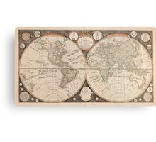 Vintage Map of The World (1799) 5 Metal Print