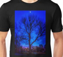 Winter Moon at the Top of the Tree Unisex T-Shirt