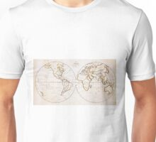 Vintage Map of The World (1811) 2 Unisex T-Shirt