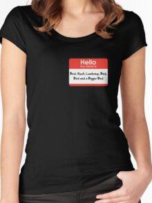 Pharoah Atem Name Tag Women's Fitted Scoop T-Shirt