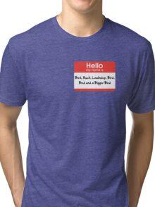 Pharoah Atem Name Tag Tri-blend T-Shirt