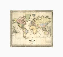 Vintage Map of The World (1840) Unisex T-Shirt