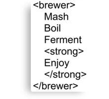 Brewer html Canvas Print