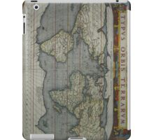 Vintage Map of The World (1595) 2 iPad Case/Skin