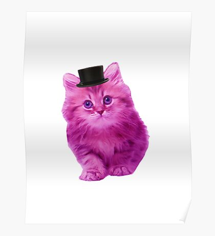 Top hat cat Poster