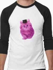 Top hat cat Men's Baseball ¾ T-Shirt