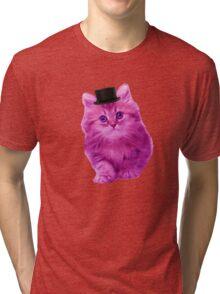 Top hat cat Tri-blend T-Shirt
