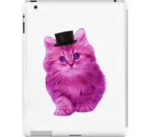 Top hat cat iPad Case/Skin