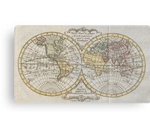 Vintage Map of The World (1795) Canvas Print