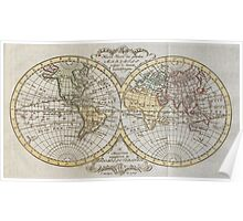 Vintage Map of The World (1795) Poster