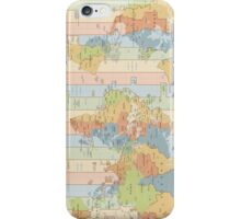 World Time Zone Map iPhone Case/Skin