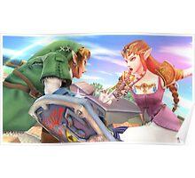Super Smash Bros. Link and Zelda Poster