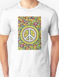 Psychedelic Polkadot Peace Unisex T-Shirt